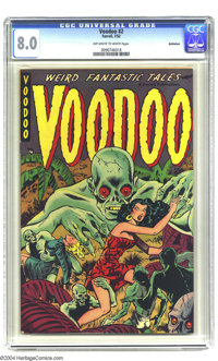 Voodoo #2 Bethlehem pedigree (Farrell, 1952) CGC VF 8.0 Off-white to white pages. Matt Baker art. This is the highest-gr...