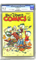 Golden Age (1938-1955):Funny Animal, Walt Disney's Comics and Stories #88 (Dell, 1948) CGC NM- 9.2Off-white pages. Walt Kelly's duck cover packs a wallop thanks...