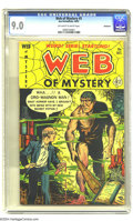Golden Age (1938-1955):Horror, Web of Mystery #5 Bethlehem pedigree (Ace, 1951) CGC VF/NM 9.0Off-white to white pages. This is the highest-graded copy CGC...
