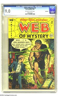 Web of Mystery #5 Bethlehem pedigree (Ace, 1951) CGC VF/NM 9.0 Off-white to white pages. This is the highest-graded copy...