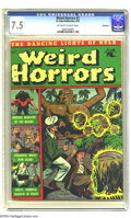 Golden Age (1938-1955):Horror, Weird Horrors #2 Bethlehem pedigree (St. John, 1952) CGC VF- 7.5Off-white to white pages. Includes a certificate of authent...