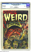 Golden Age (1938-1955):Horror, Weird Tales of the Future #7 Bethlehem pedigree (Aragon, 1953) CGCVF/NM 9.0 Off-white pages. Bernard Baily's flat-out frigh...