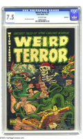 Golden Age (1938-1955):Horror, Weird Terror #2 Bethlehem pedigree (Comic Media, 1952) CGC VF- 7.5Off-white pages. This title made quite a name for itself ...
