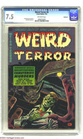 "Golden Age (1938-1955):Horror, Weird Terror #6 Bethlehem pedigree (Comic Media, 1953) CGC VF- 7.5Off-white pages. Overstreet notes, ""dismemberment, decapi..."