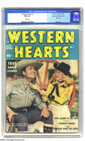 Golden Age (1938-1955):Western, Western Hearts #1 Mile High pedigree (Standard, 1949) CGC NM 9.4White pages. This comic is just a bit on the esoteric side,...