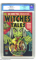 Golden Age (1938-1955):Horror, Witches Tales #3 Northford pedigree (Harvey, 1951) CGC NM- 9.2Cream to off-white pages. Bondage cover -- with giant, killer...