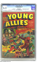 Golden Age (1938-1955):Superhero, Young Allies Comics #1 (Timely, 1941) CGC FN+ 6.5 Off-white pages. The Young Allies burst onto the scene with this issue, wh...