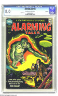 Silver Age (1956-1969):Horror, Alarming Tales #2 Bethlehem pedigree (Harvey, 1957) CGC VF 8.0Off-white to white pages. Jack Kirby art. Includes a certific...