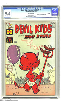 Devil Kids Starring Hot Stuff #1 File Copy (Harvey, 1962) CGC NM 9.4 Off-white pages. High-grade Harveys are hard to com...