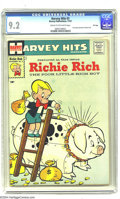 Silver Age (1956-1969):Humor, Harvey Hits #3 Richie Rich - File Copy (Harvey, 1957) CGC NM- 9.2 Cream to off-white pages. This issue of Harvey Hits --...