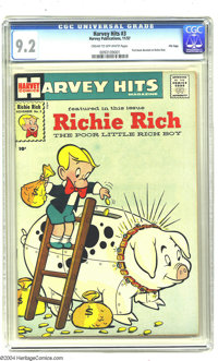 Harvey Hits #3 Richie Rich - File Copy (Harvey, 1957) CGC NM- 9.2 Cream to off-white pages. This issue of Harvey Hits --...