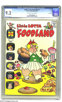 Little Lotta Foodland #1 File Copy (Harvey, 1963) CGC NM- 9.2 Off-white to white pages. 68 pages. First issue. Beautiful...
