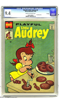 Playful Little Audrey #3 File Copy (Harvey, 1957) CGC NM 9.4 Cream to off-white pages. Another score from the Harvey fil...