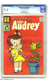 Playful Little Audrey #7 File Copy (Harvey, 1958) CGC NM 9.4 Cream to off-white pages. A stunningly beautiful high-grade...