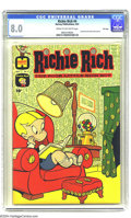Silver Age (1956-1969):Humor, Richie Rich #4 File Copy (Harvey, 1961) CGC VF 8.0 Cream to off-white pages. Little Dot and Little Lotta appear in backup st...