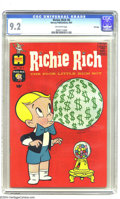 Silver Age (1956-1969):Humor, Richie Rich #6 File Copy (Harvey, 1961) CGC NM- 9.2 Off-white pages. Absolutely fabulous high-grade file copy with vibrant c...