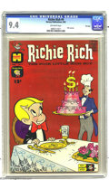 Silver Age (1956-1969):Horror, Richie Rich #9 File Copy (Harvey, 1962) CGC NM 9.4 Off-white pages.This near-perfect file copy earned CGC's highest grade a...