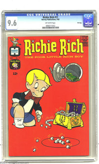 Richie Rich #11 File Copy (Harvey, 1962) CGC NM+ 9.6 Off-white pages. Here's a high-grade Harvey you'll assume was store...
