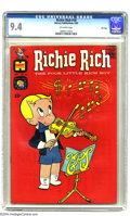 Silver Age (1956-1969):Humor, Richie Rich #18 File Copy (Harvey, 1963) CGC NM 9.4 Off-white pages. Violinist Richie Rich makes music and money on this col...