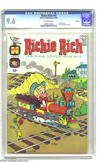 Richie Rich #34 File Copy (Harvey, 1965) CGC NM+ 9.6 Off-white pages. This ultra-high-grade gem is the only specimen of...