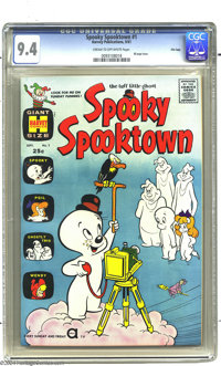 Spooky Spooktown #1 File Copy (Harvey, 1961) CGC NM 9.4 Cream to off-white pages. Casper and Spooky appear in this 68-pa...