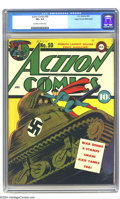 Golden Age (1938-1955):Superhero, Action Comics #59 Mile High pedigree (DC, 1947) CGC VF+ 8.5 Off-white to white pages. This issue has one of the few covers D...