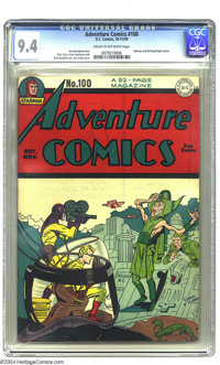 Adventure Comics #100 (DC, 1945) CGC NM 9.4 Cream to off-white pages. Ka-pow! This Golden Age gem kayos the competition...