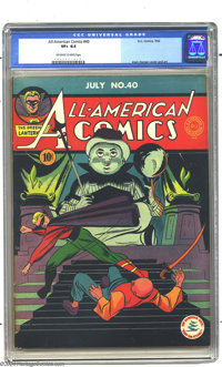 All-American Comics #40 (DC, 1942) CGC VF+ 8.5 Off-white to white pages. Sure, we all love Green Lantern's portly sideki...