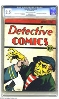 Platinum Age (1897-1937):Miscellaneous, Detective Comics #2 (DC, 1937) CGC GD+ 2.5 Cream to off-white pages. This pre-Golden Age issue of Detective Comics featu...
