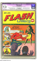 Golden Age (1938-1955):Superhero, Flash Comics #1 (DC, 1940) CGC Apparent VF/NM 9.0 Slight (P) Off-white to white pages. One of the classic DC keys, this intr...