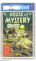 Golden Age (1938-1955):Horror, House of Mystery #1 (DC, 1952) CGC VF+ 8.5 Cream to off-whitepages. DC's first horror comic became the longest-running horr...