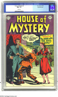 Golden Age (1938-1955):Horror, House of Mystery #4 White Mountain pedigree (DC, 1952) CGC NM+ 9.6White pages. Early issues of DC's first horror title are ...