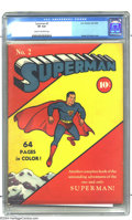 Golden Age (1938-1955):Superhero, Superman #2 (DC, 1939) CGC VF 8.0 Cream to off-white pages. Superman's second issue is an all-Jerry Siegel/Joe Shuster affai...