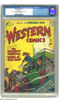 Golden Age (1938-1955):Western, Western Comics #1 (DC, 1948) CGC VF+ 8.5 Cream to off-white pages.With this premiere issue, DC launched its flagship shoot ...