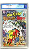 Silver Age (1956-1969):Superhero, The Brave and the Bold #54 Kid Flash, Aqualad, and Robin (DC, 1964)CGC NM+ 9.6 Off-white to white pages. This historic issu...