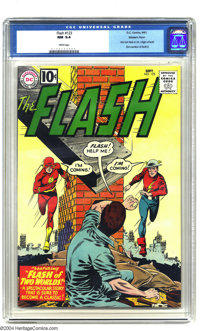 """The Flash #123 Western Penn pedigree (DC, 1961) CGC NM 9.4 White pages. """"Flash of Two Worlds"""" was a landmark b..."""