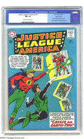 Silver Age (1956-1969):Superhero, Justice League of America #22 Pacific Coast pedigree (DC, 1963) CGC NM- 9.2 Off-white to white pages. What on Earths is ...