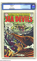 Silver Age (1956-1969):Adventure, Sea Devils #29 (DC, 1966) CGC NM 9.4 Off-white to white pages. This title may be best remembered for its Russ Heath art, but...