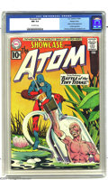 Silver Age (1956-1969):Superhero, Showcase #34 The Atom -- Western Penn pedigree (DC, 1961) CGC NM9.4 Off-white pages. Julius Schwartz assigned his big guns ...