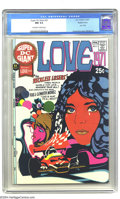 "Bronze Age (1970-1979):Romance, Super DC Giant #21 (S-21) ""Love 1971"" - Western Penn pedigree (DC,1971) CGC NM 9.4 Off-white to white pages. Romance comics..."