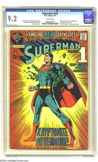 Superman #233 (DC, 1971) CGC NM- 9.2 White pages. Neal Adams cover. Curt Swan and Murphy Anderson art. A revamping of th...