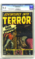 Golden Age (1938-1955):Horror, Adventures Into Terror #9 (Atlas, 1952) CGC NM- 9.2 Off-white towhite pages. Overstreet notes that this pre-Code horror com...