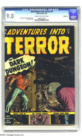 Golden Age (1938-1955):Horror, Adventures Into Terror #9 Bethlehem pedigree (Atlas, 1952) CGCVF/NM 9.0 Cream to off-white pages. Russ Heath cover. Joe Sin...