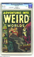 Golden Age (1938-1955):Horror, Adventures Into Weird Worlds #5 Bethlehem pedigree (Atlas, 1952)CGC VF+ 8.5 Off-white pages. Bill Everett, Joe Maneely, Dic...