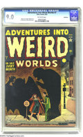 Golden Age (1938-1955):Horror, Adventures Into Weird Worlds #7 Bethlehem pedigree (Atlas, 1952)CGC VF/NM 9.0 Off-white pages. Russ Heath cover. Ogden Whit...