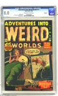 Golden Age (1938-1955):Horror, Adventures Into Weird Worlds #11 Bethlehem pedigree (Atlas, 1952)CGC VF 8.0 Off-white to white pages. Bill Everett cover. J...