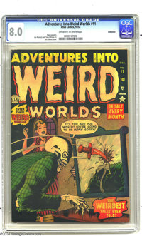Adventures Into Weird Worlds #11 Bethlehem pedigree (Atlas, 1952) CGC VF 8.0 Off-white to white pages. Bill Everett cove...