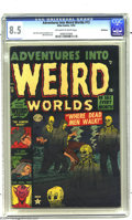 Golden Age (1938-1955):Horror, Adventures Into Weird Worlds #13 Bethlehem pedigree (Atlas, 1952)CGC VF+ 8.5 Off-white to white pages. Bill Everett cover. ...