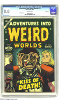 Golden Age (1938-1955):Horror, Adventures Into Weird Worlds #23 Bethlehem pedigree (Atlas, 1953)CGC VF 8.0 Off-white pages. Joe Maneely art. As of this wr...