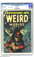 Golden Age (1938-1955):Horror, Adventures Into Weird Worlds #28 Bethlehem pedigree (Atlas, 1954)CGC VF+ 8.5 Off-white pages. Doug Wildey and Paul Reinman ...